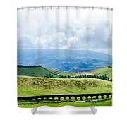 The Aqueduct Shower Curtain