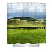 The Aqueduct Panoramic Shower Curtain
