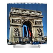 The Arc De Triomphe De Etoile  Shower Curtain