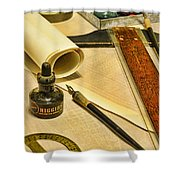 The Architect Shower Curtain by Paul Ward