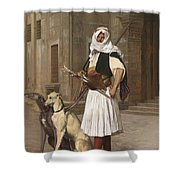 The Arnaut With Two Whippets Shower Curtain
