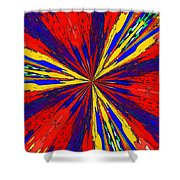 The Arrival Of Colours Shower Curtain