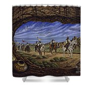 The Arrival Shower Curtain