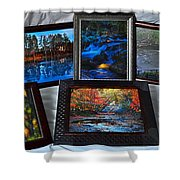 The Art Collector Shower Curtain by Frozen in Time Fine Art Photography