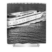 The Art Deco Ferry Kalakala Shower Curtain