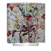 The Art Lesson Shower Curtain