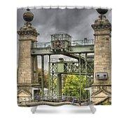 The Art Nouveau Ships Elevator - Portal View Shower Curtain