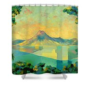 The Art Of Long Distance Breathing Shower Curtain
