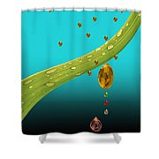 The Art Of Raining In California Shower Curtain