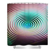 The Art Of Ripples Shower Curtain