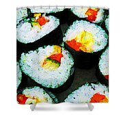 The Art Of Sushi Shower Curtain