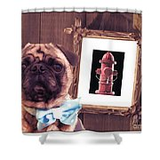 The Artist And His Masterpiece Shower Curtain by Edward Fielding