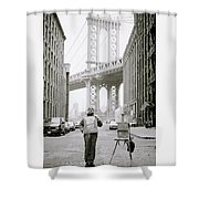 The Artist In New York Shower Curtain