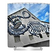 The Artist Roa At Work  Shower Curtain