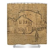 The Artists House In Arles Shower Curtain by Vincent Van Gogh