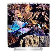 The Artists Palette Death Valley Shower Curtain