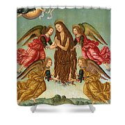 The Ascension Of Saint Mary Magdalene Shower Curtain