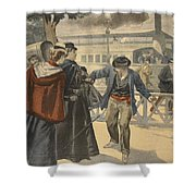 The Assassination Of The Empress Shower Curtain by French School