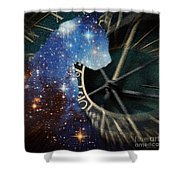The Astronomer's Cat Shower Curtain