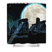 The Astronomers Circle Shower Curtain