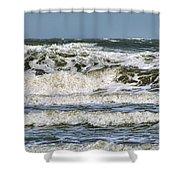 The Atlantic Ocean At Sullivan's Island Shower Curtain