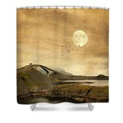 The Atlantic Road Shower Curtain