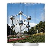 The Atomium Shower Curtain