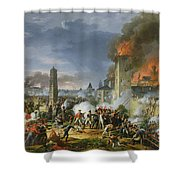 The Attack And Taking Of Ratisbon, 23rd April 1809, 1810 Oil On Canvas Shower Curtain