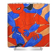 The Attraction Two Shower Curtain