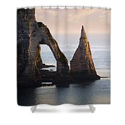 The Aval Door In Etretat  France  Shower Curtain