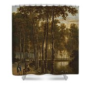 The Avenue Of Birches Shower Curtain