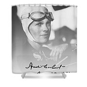 The Aviatrix Shower Curtain