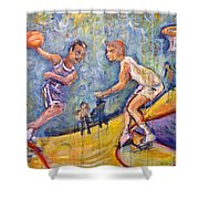 The B-ball Game Shower Curtain