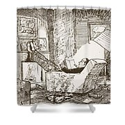 The Bachelor, Illustration From Pont An Shower Curtain