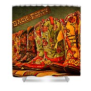 The Back Forty Boots Are Made For Dancin' Shower Curtain