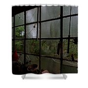 The Back Shed Shower Curtain