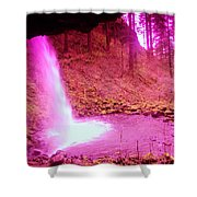 The Backside Of Little Pony Falls  Shower Curtain