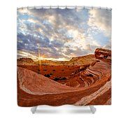 The Bacon Wave Shower Curtain