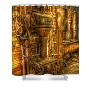 The Bagging Machine Shower Curtain