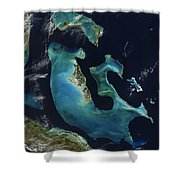 The Bahamas Shower Curtain by Adam Romanowicz