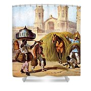 The Baker And The Straw Seller, 1840 Shower Curtain