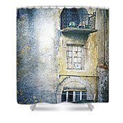 The Balcony Scene Shower Curtain