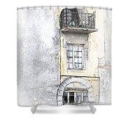 The Balcony Scene II Shower Curtain