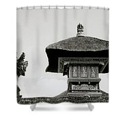 The Bali Temple Shower Curtain