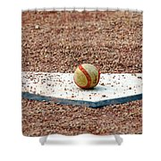 The Ball Of Field Of Dreams Shower Curtain by Susanne Van Hulst