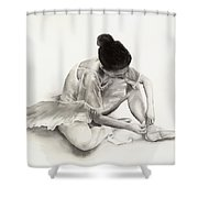 The Ballet Dancer Shower Curtain by Hailey E Herrera