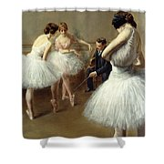 The Ballet Lesson Shower Curtain