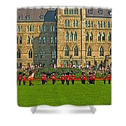 The Band Played On In Front Of Parliament Building In Ottawa-on Shower Curtain