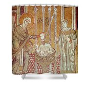 The Baptism Of St. Paul By Ananias, From Scenes From The Life Of St. Paul Mosaic Shower Curtain