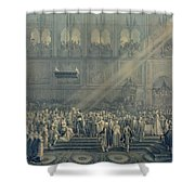 The Baptism Of The King Of Rome 1811-32 At Notre-dame, 10th June 1811, After 1811 Engraving Shower Curtain